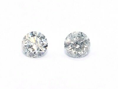 Pair Certified 1.05 TCW F + G, SI Clairity Round Brilliant Natural Diamond #280