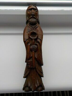Very Old Hand Carved Wooden St Peter Clearance Find