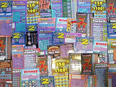 50 California Lottery Tickets Assorted Second Chance Scratchers 2nd Redeemable