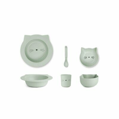 Liewood - Baby Bamboo Plate Set Barbara - Dusty Mint Cat