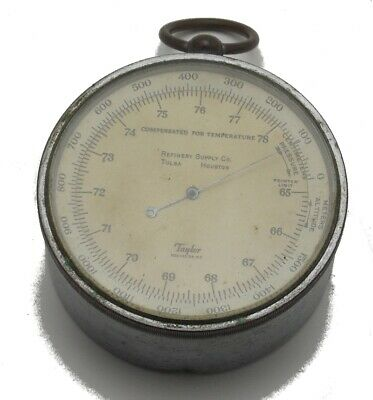 Vintage Taylor Instrument Co. Rochester N.Y Compensated Temperature Barometer
