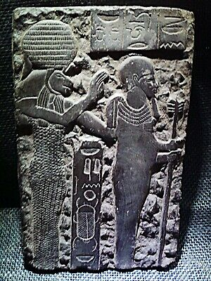 EGYPTIAN ANTIQUES ANTIQUITIES Petah And Sekhmet Stela Stele Stelae 1403-1365 BC