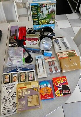 LOT of MICELLANEOUS ITEMS 'JUNK-DRAWER' VINTAGE SOME UNUSED MIB