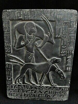 EGYPTIAN ANTIQUES ANTIQUITY Young Ramses II Hunting Stela Stele 1279-1213 BC
