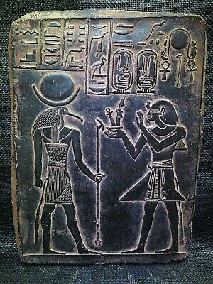 EGYPTIAN ANTIQUES ANTIQUITY Ramses III And Thoth Stela Stele 1217-1256 BC