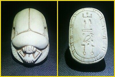 EGYPTIAN ANTIQUES ANTIQUITY Scarab Beetle Khepri Figure Sculpture 1549-1170 BC