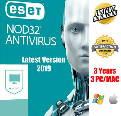 Eset NOD 32 Antivirus 2019 Original 3 Pc 3 Year Global Key✔ Instant Download✔