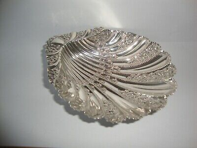 Rare large Antique Solid Silver Shell Dish Atkin Brothers Sheffield 1905