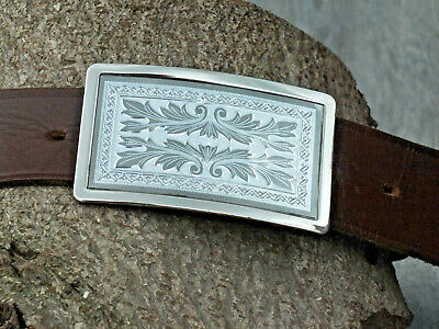 Vintage American Buckle & Belt - Small size 23.5~28 Inch fit on existing holes