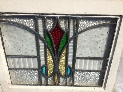 Antique 1930's leaded stained glass windows (15 in total in two designs)