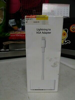 Original Apple MD825AM/A Lightning to VGA Adapter for iPhones iPads A1439