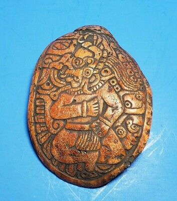 Pre-Columbian Mayan Shell Carved