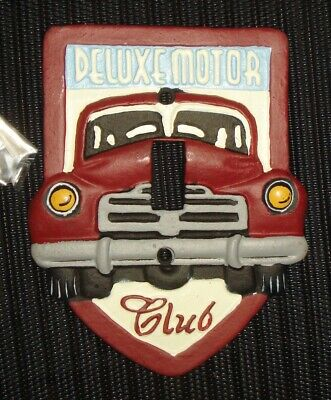 Vintage Cast Iron Car Switch Plate Beautiful Deluxe Motorcar Design Nr