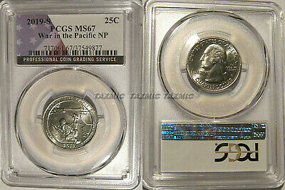 2019 S War in the Pacific NP Quarter 25c PCGS MS67 USA Flag
