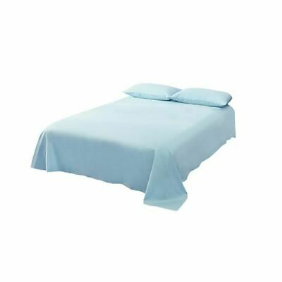 Dreamz 4 Pcs Flat Fitted Bed Sheet Set In King Size In Blue Colour