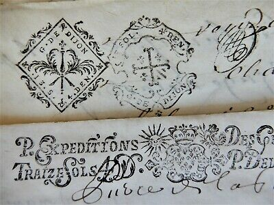 Late 18th century handwritten pages (on animal skin) from a legal book.