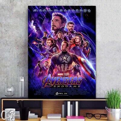 "Avengers Endgame Poster 24x36"" 24x32"" 20x30"" Movie 2019 Film End Game Print Silk"