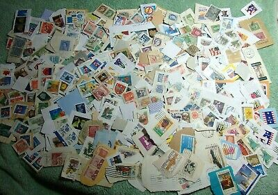 Lot Of A Few Hundred Worldwide Stamps On Paper Nice Mixture    #2