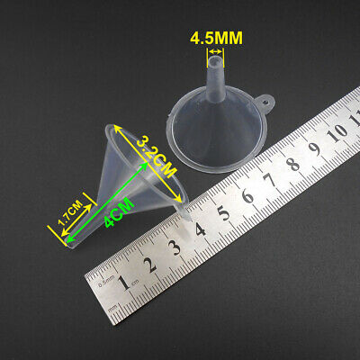 100Pc 32MM Repackaging Small Filling Funnel 4.5MM Spout For Atomiser Perfume 4CM