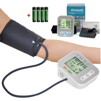 Automatic High Arm Blood Pressure Monitor BP Cuff Gauge Machine Tester w/ voice