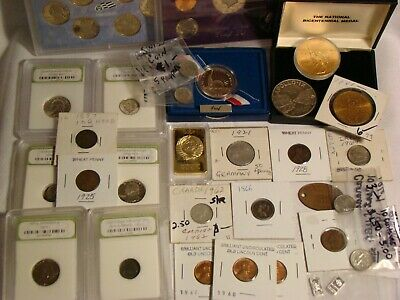 ESTATE COIN LOT: 1866 3c *1863 CWT*PRE 1964 90% SILVER COINS INDIAN HEAD *TOKENS