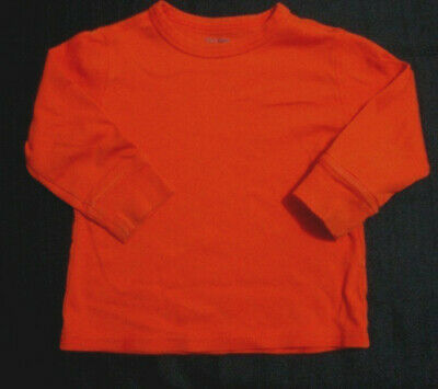 Baby Gap Boys Size 12-18 Months Orange Long Sleeve Pullover Shirt GUC
