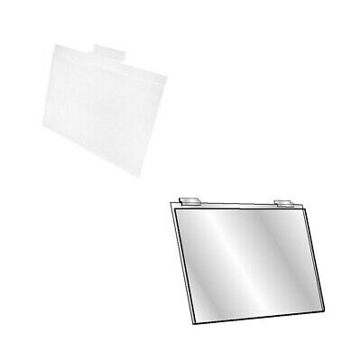 Set Of 12 Pc 5-1/2''H x 7''W Clear Acrylic Slatwall Lucite Frame Retail Display