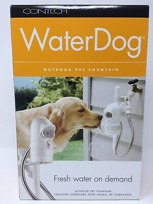 Contech WaterDog Automatic Outdoor Pet Drinking Fountain OUTside Dog Waterer NIB