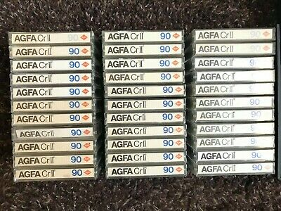 10x AGFA CRII 90 CASSETTE STEREOCHROM - Excellent condition