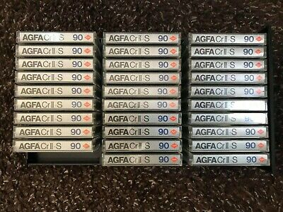 10x AGFA CRII S 90 CASSETTE SUPERCHROM - Excellent condition