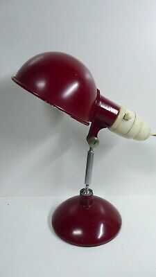 Vintage Art Deco Peerlite Desk Lamp Metal Bakelite Fittings Clip On Mid Century
