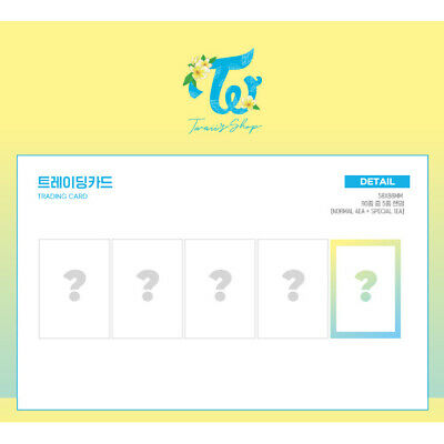 TWICE Official TRADING CARD 5 in Pack Twaii's Shop POP UP STORE MD Photocard