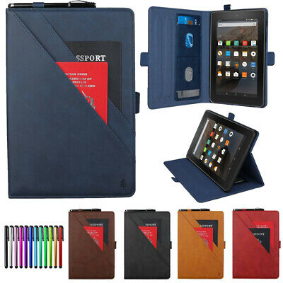 """For Amazon Fire 7"""" 2019 9th 7th Generation Leather Flip Smart Case Stand Cover"""