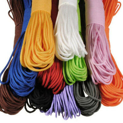 550 Paracord Parachute Cord Lanyard Mil Spec Type III 7 Strands Core 11Colors