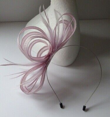Pinky lilac fascinator on headband for wedding/mother of the bride/ladies day
