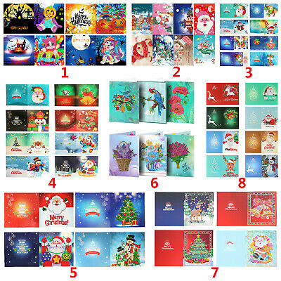 5D Christmas Greeting Cards Full Drill Diamond Painting Embroidery DIY Xmas Gift