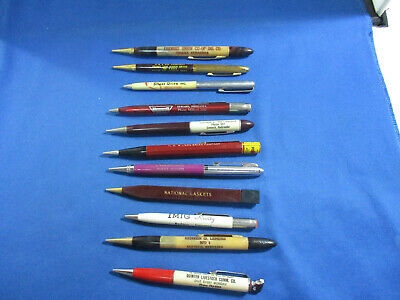 Vintage Mechanical Pencil Lot of 11 Advertising Old Collectible Pencils