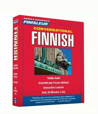 Conversational Finnish (CD) pimsleur 8 CD with case