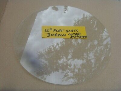 1 off 12 inch  flat glass 303mm max  dia will fit 12 inch bezel