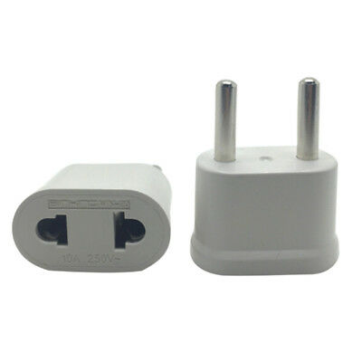 US USA To EU Europe EURO AC Power Wall Plug Travel Charger Adapter Converter  OI