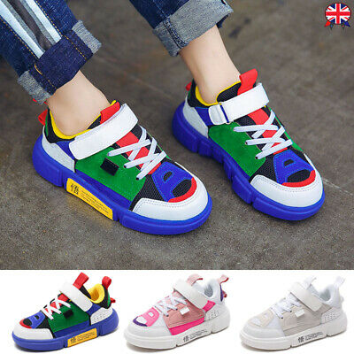 Kids Boys Girls Outdoor Sport Shoes Fashion Trainer Comfy Athletic Cute Sneakers