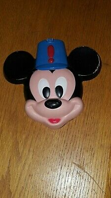 Vintage Mickey Mouse Cake Topper Wall Decor Made In Mexico Face With Band Hat