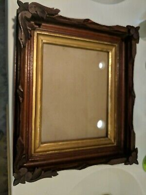 Antique German Black Forest Wood Carving PICTURE FRAME