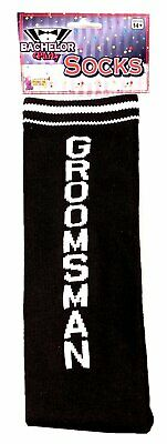 """Bachelor Party Socks """"Groomsman"""" One Size Fits Most"""
