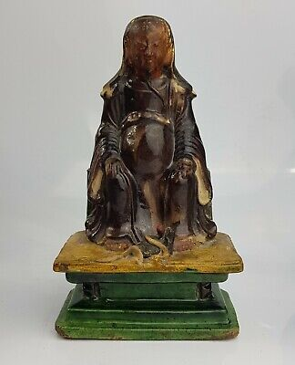 Chinese Antique Ming Dynasty Sancai Figure Deity Zhenwu ? Exceptional Statue
