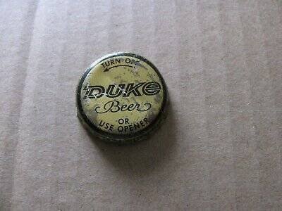 Duke Beer Cap Duquesne Brewing Pittsburgh Pennsylvania Pa Obsolete Turn Off