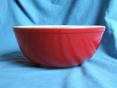 Rare Large Pyrex Candy Apple Red Kitchen Nesting Bowl
