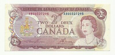 1974 Canada Two Dollar Bank Note