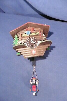 Vintage Black Forest Cuckoo Clock Style with Bouncing Girl Clock - not working