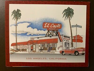 El Coyote Restaurant- Beverly Blvd - Los Angeles, Ca. advertising pamphlet
